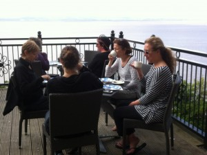 Afternoon tea by the sea, Clevedon