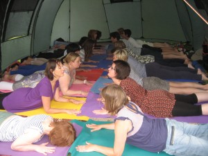 Yoga in St George's Park 2012